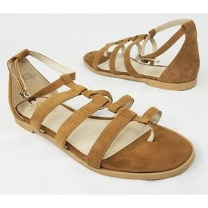 Seychelles Tan Suede Strappy Sandals Size 8